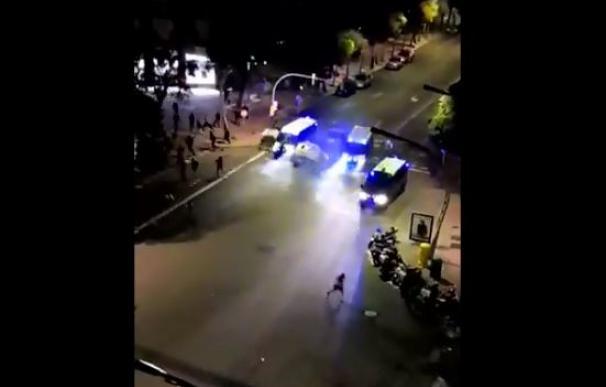 Furgón Mossos atropella joven - protestas Cataluña