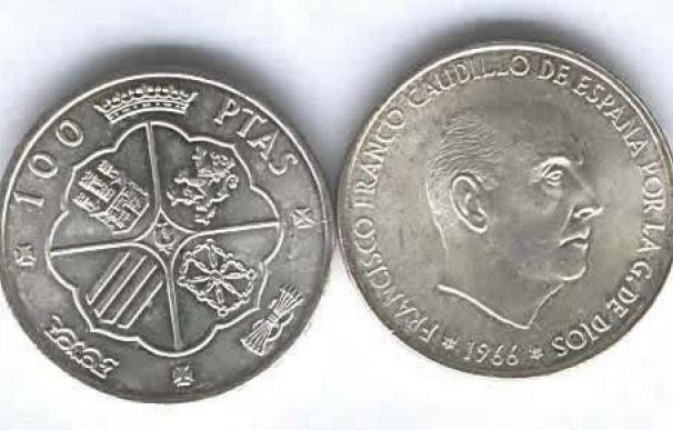Fotografía de la Moneda 100 Pesetas Franco 1949.