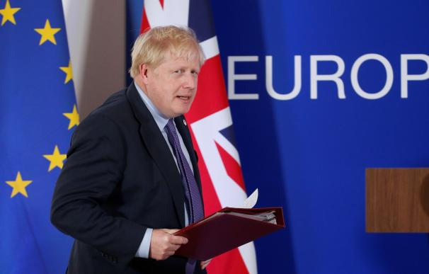 Boris Johnson, en la cumbre con la UE