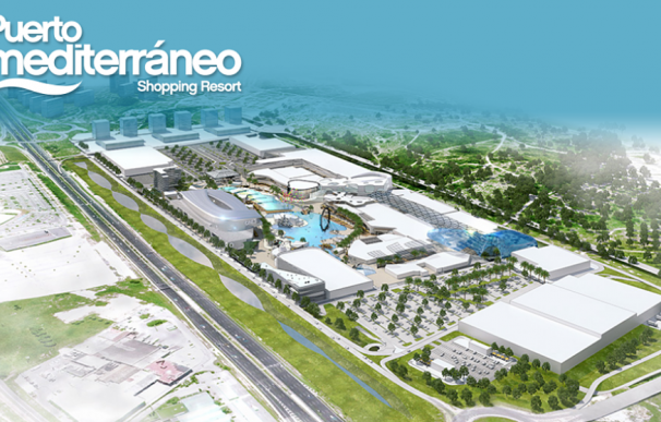 Proyección virtual del 'shopping resort' Puerto Mediterráneo. /L.I.