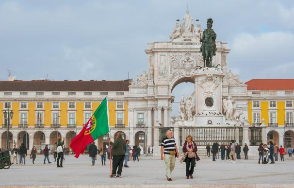 Fotografía de la Praça do Comércio en Lisboa.