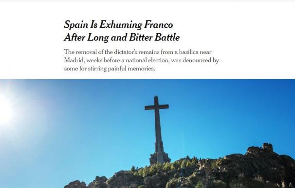 Artículo del New York Times sobre la exhumación