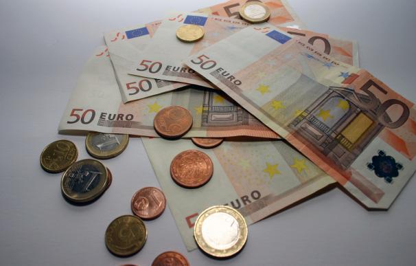 Fotografía de billetes de euro.