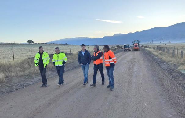 Obras en carretera Zarza de Granadilla