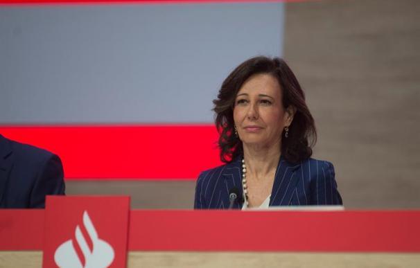 Ana Botín en la Junta de Accionistas del Banco Santander, 12 de abril de 2019