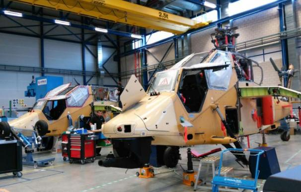 Montaje de helicópteros Tigre. /AH