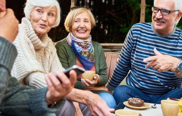 Fotografía de jubilados que ahorraron pata tener una pensión mejor.