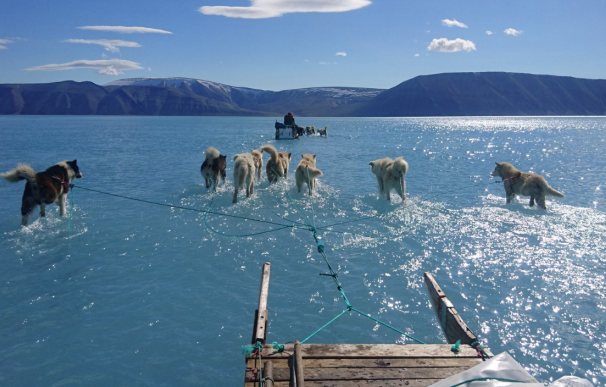 Fotografía de Steffen Olsen en Groenlandia.