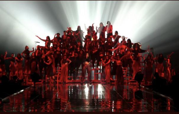 El espectaculo de Rosalía en los MTV European Music Awards en Sevilla. /L.I.
