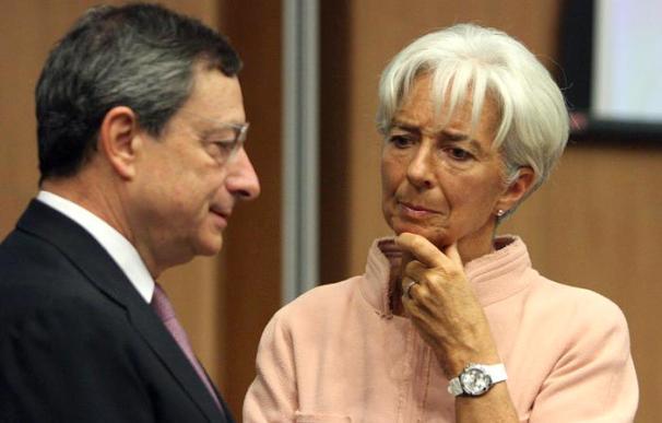 Mario Draghi y Cristina Lagarde./EFE