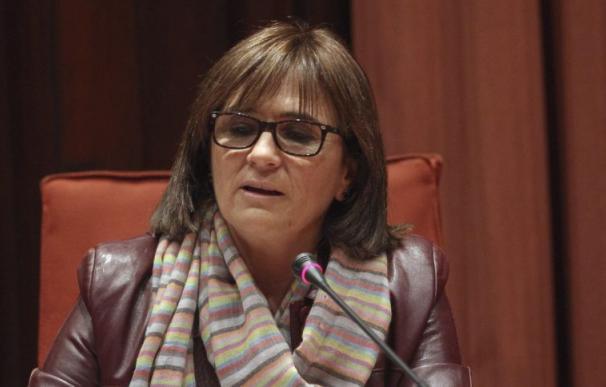 Marta Pujol Ferrusola durante una comparecencia en el Parlament. /EFE /TONI GARRIGA