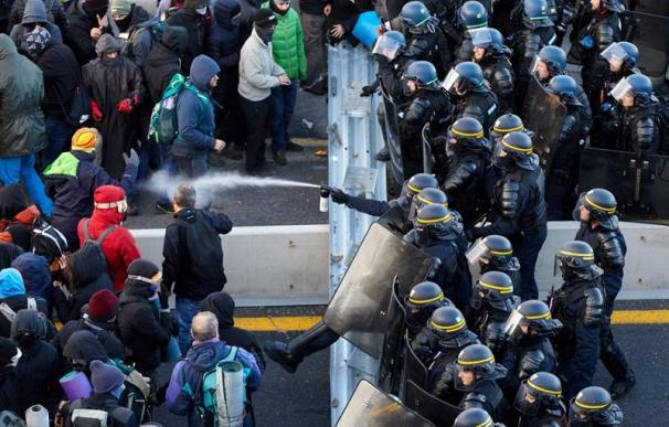 Tsunami Democràtic protesta autovía AP-7, frontera, Jonquera, Girona