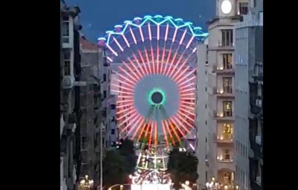 Luces de la noria de Vigo