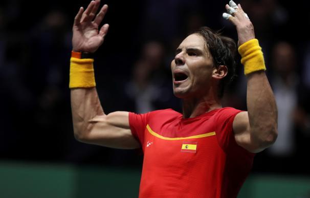 Rafa Nadal en la Copa Davis. / EFE
