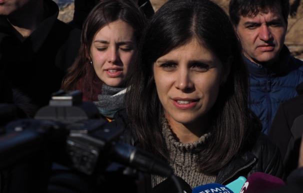 Marta Vilalta y Sergi Sabrià (ERC) visitan L'Espluga de Francolí (Tarragona) tras las recientes inundaciones, el 16 de noviembre de 2019