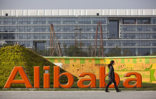 Exterior de la sede de Alibaba.