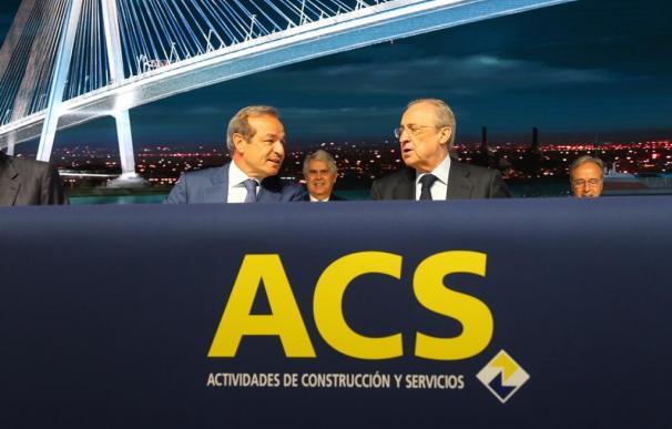 Florentino Pérez y Fernández Verdes en la junta de accionistas de ACS
