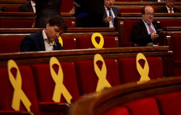 Miquel Iceta en el Parlament catalán