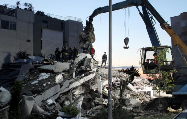 Imágenes tras el terremoto en Albania. / EFE