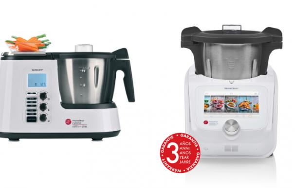 Fotografía de los dos robots de cocina de Lidl: Monsieur Cuisine Plus y Monsieur Cuisine Connect.