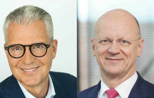 Andreas C. Hoffmann y Ralf P. Thomas, directivos de Siemens.