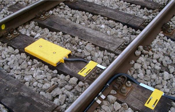 Señalización en las vías del tren.