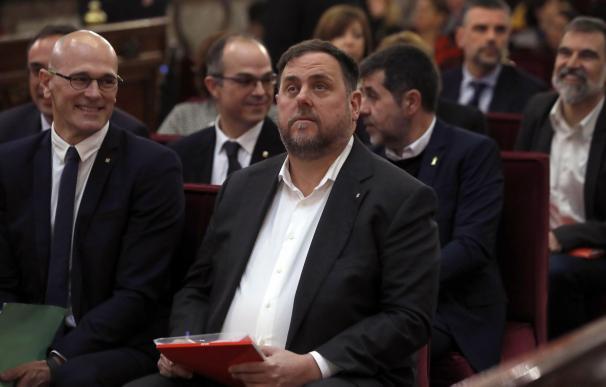 Oriol Junqueras durante el juicio del procés