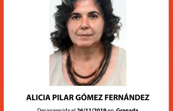 Cartel alertando de la desaparición de Alicia Gómez
