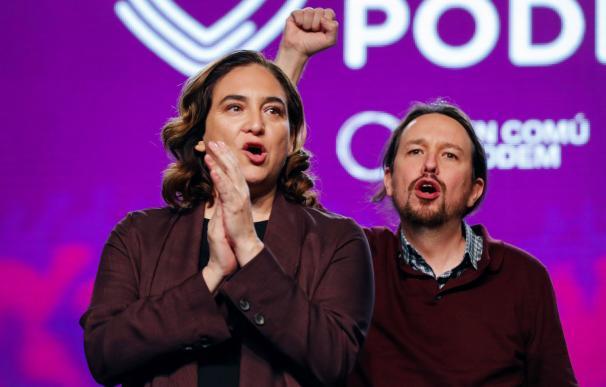 Pablo Iglesias y Ada Colau