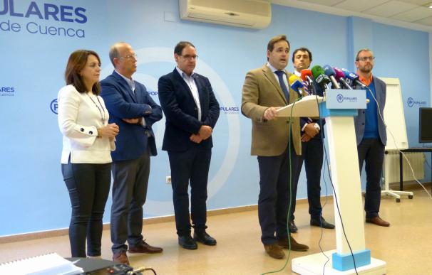 El presidente regional del PP, Paco Núñez, en rueda de prensa.