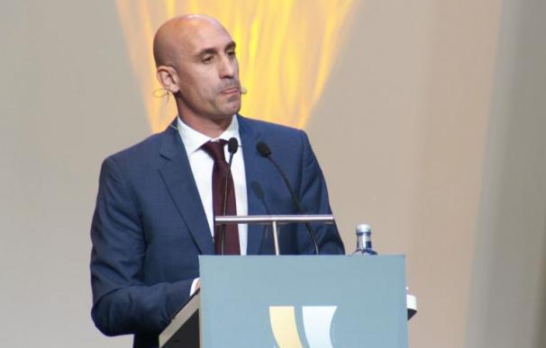 El presidente de la Real Federación Española de Fútbol, Luis Rubiales
