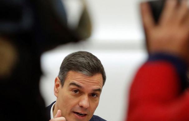 Pedro Sánchez el día después de la cita electoral. /EFE