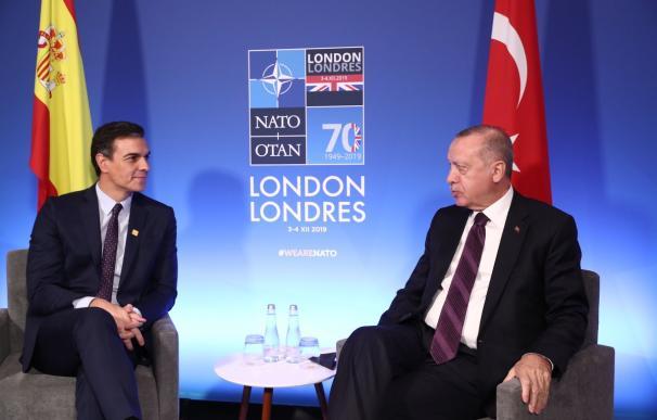 Encuentro entre Erdogan y Sánchez en la cumbre de la OTAN. /Moncloa