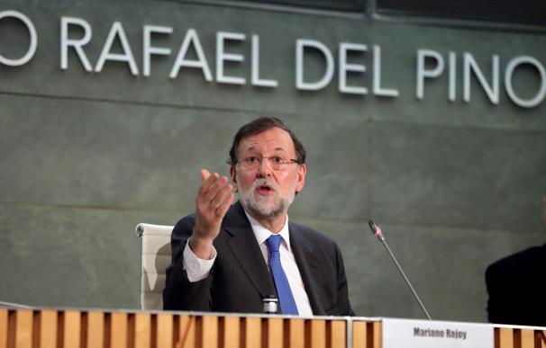 """El expresidente del gobierno Mariano Rajoy durante la presentación de su libro """"Una España mejor"""". /EFE"""