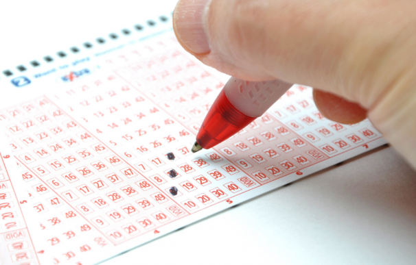 Fotografía de un boleto de lotería.
