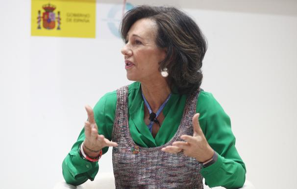 Ana Botín, durante su intervención en el Cop25