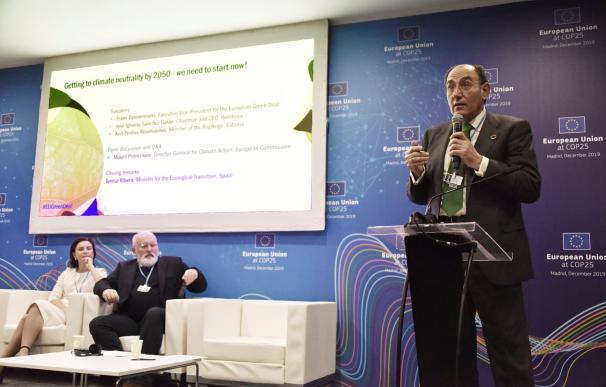 Sánchez Galán, presidente de Iberdrola, durante la Cumbre del Clima