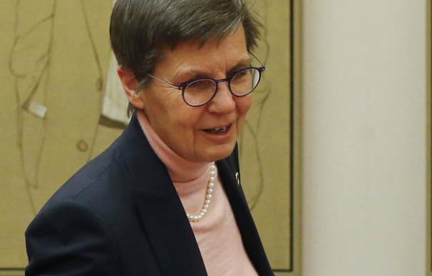 La presidenta de la Junta Única de Resolución (JUR), Elke Konig.