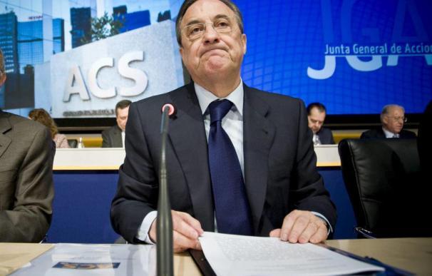 El presidente de ACS, Florentino Pérez, en la junta de la compañía.