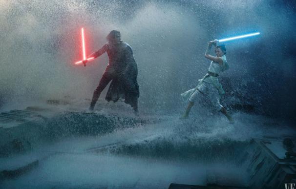 Kylo Ren lucha contra Rey