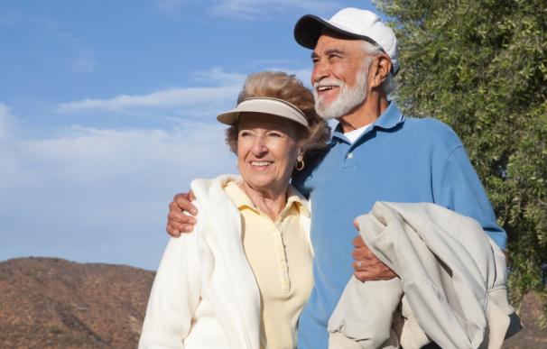 Fotografía de dos jubilados.