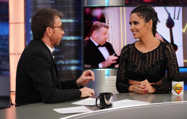 Pedroche durante la entrevista con Pablo Motos.
