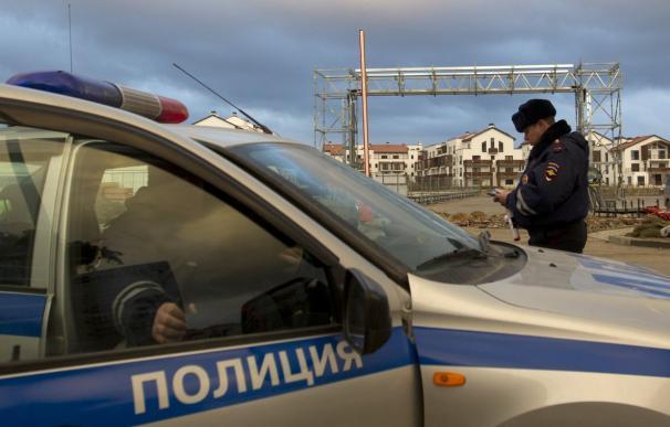 Un coche de la Policía rusa