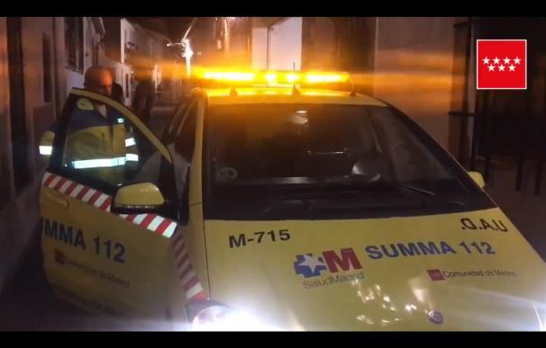 Los facultativos del Summa acudieron al municipio de Meco. / Emergencia C. Madrid