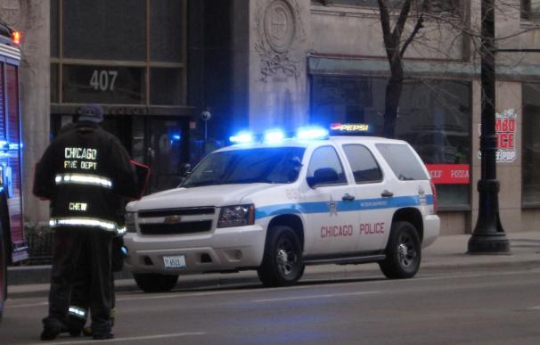 Fotografía de un coche de la policía de Chicago.