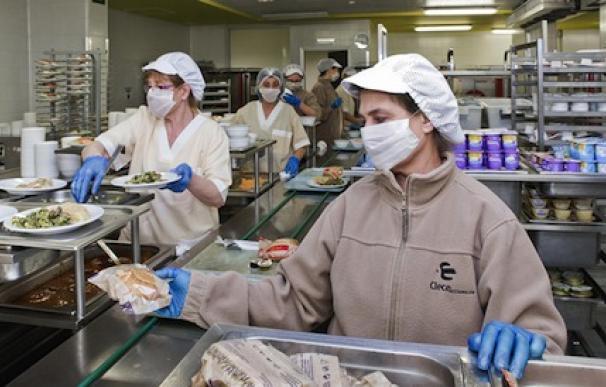 Fotografía trabajadoras de comedor / Clece