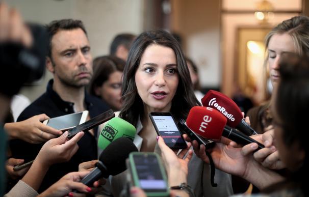 La portavoz de Ciudadanos, Inés Arrimadas.