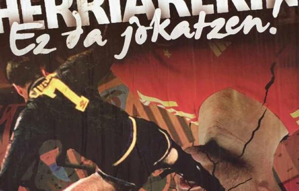 El cartel difundido por Ernai en las calles de Bilbao. /PP Vasco