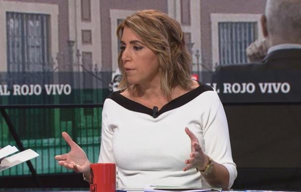 Susana Díaz durante la entrevista. /ARV