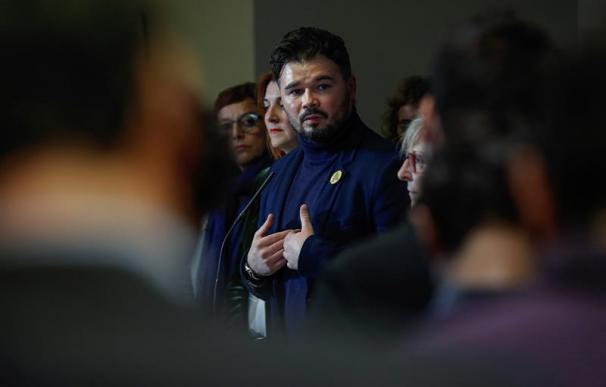 Gabriel Rufián, el pasado martes en el Congreso